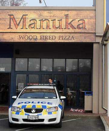 ARMED ROBBERY: Police cordoned off the Still Working Bar/Manuka Wood Fire Pizza in Hamilton after it was robbed overnight.