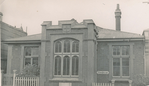 HISTORY: Home of Compassion Creche, Buckle St, Wellington. Built in 1914 for Mother Suzanne Aubert it was New Zealand's first purpose built creche. The building is a category 1 listed building with the Historic Places Trust.