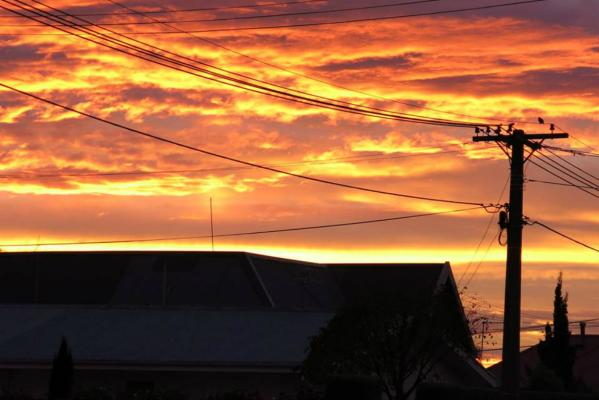 Sunrise over Christchurch, May 20, 2014