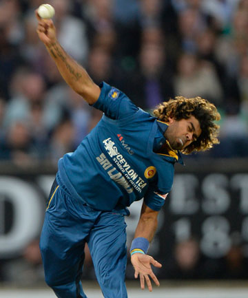 WORLD CLASS: Lasith Malinga bowls an effort ball in Sri Lanka's T20 win over England at The Oval.