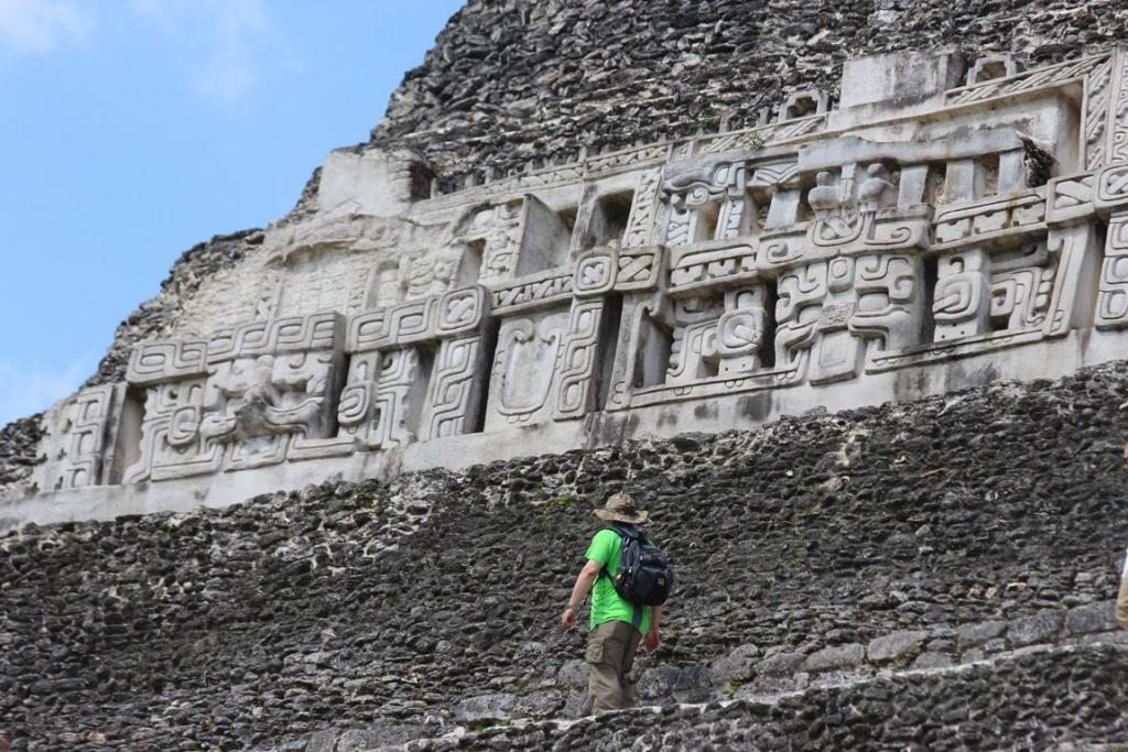 Xunantunich is a grand Mayan ruin in the rolling countryside of western Belize's Cayo District.