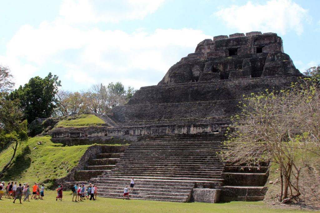 Unlike many other Mayan ruins, visitors can climb up a series of stairs either part way or all the way to the top of El Castillo.