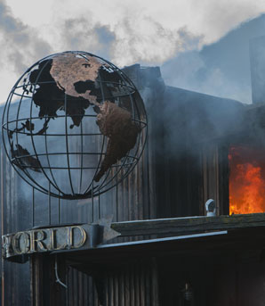World Bar in Queenstown was destroyed by fire.