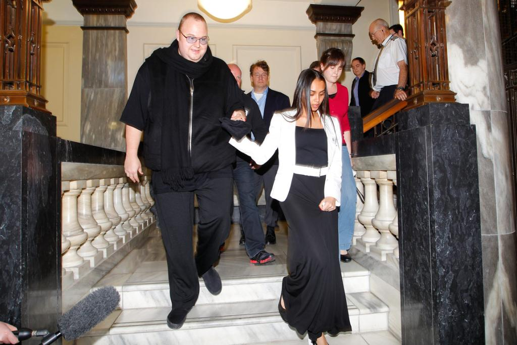 KIM DOTCOM: The millionaire internet entrepreneur told the court he offered Banks the $50,000 donation at a lunch at his Coatesville mansion. Dotcom said Banks asked for it to be split into two cheques of $25,000.