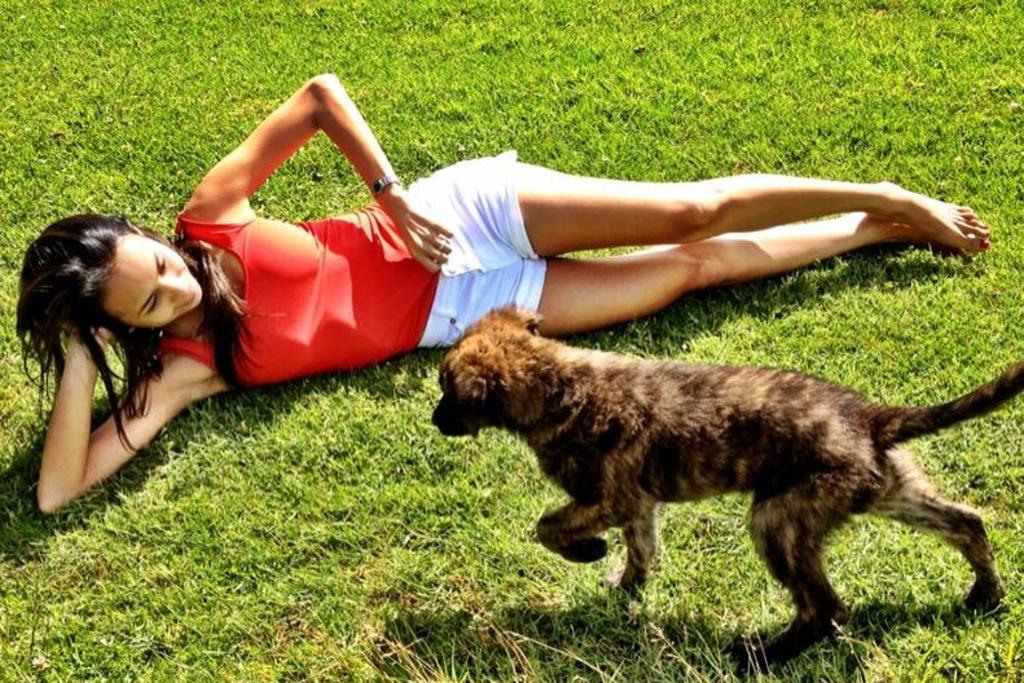 CASUAL CHIC: Denim cut offs and a classic red tank - it's Baywatch-style fashion, perfect for a day in the sun.
