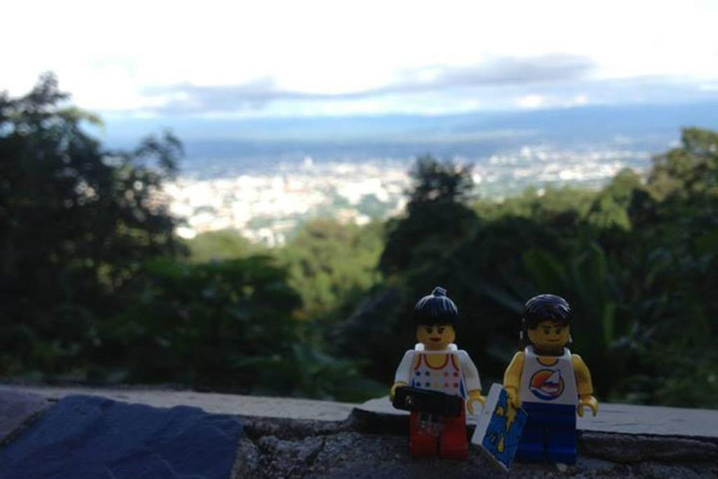 Chiang Mai in the distance in Doi Suthep, Thailand.