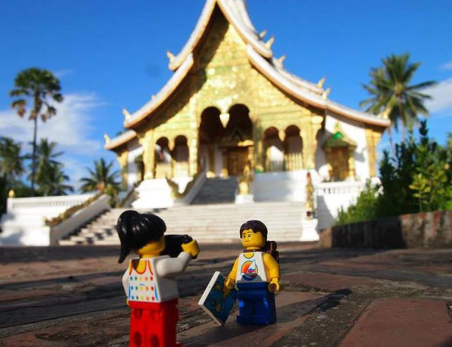 The Golden City Temple in Laos.
