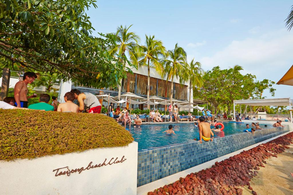 Tanjong Beach Club is a fantastic spot for lunch and a swim with the family.