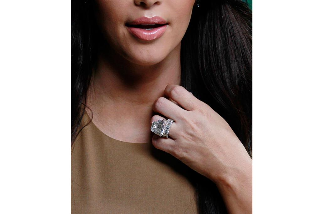BLING BLING: The engagement ring Kris Humphries gave to Kim Kardashian (that's an expensive 72 days).