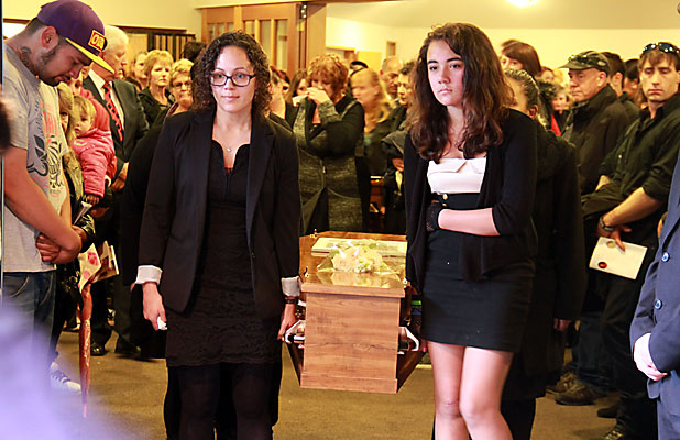 Dunedin crash siblings farewelled at funeral stuff never forgotten the caskets of north taieri siblings shannon and danielle kiriau are carried from solutioingenieria Images