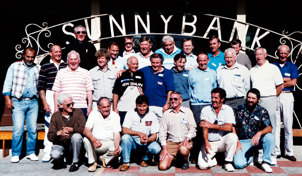 DECADES ON: A  1993 photograph of former schoolboys at the Sunnybank 50th anniversary reunion.