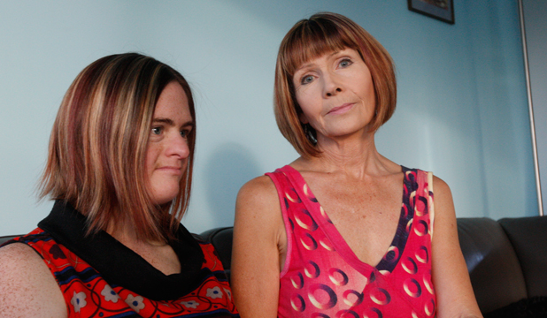 SPEAK OUT:  Jacqui Hoff and mother Barbara Rose-Westgate talk after the court battle which involved claims of abuse over Hoff's care.