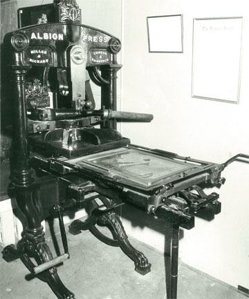 FIRST PRINTING: The first issue of The Timaru Herald was printed on an Albion Press.