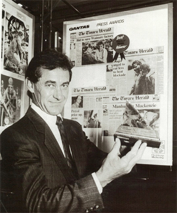 IN THE 80s: Barry Applby was editor of The Timaru Herald from 1987 to 1996.