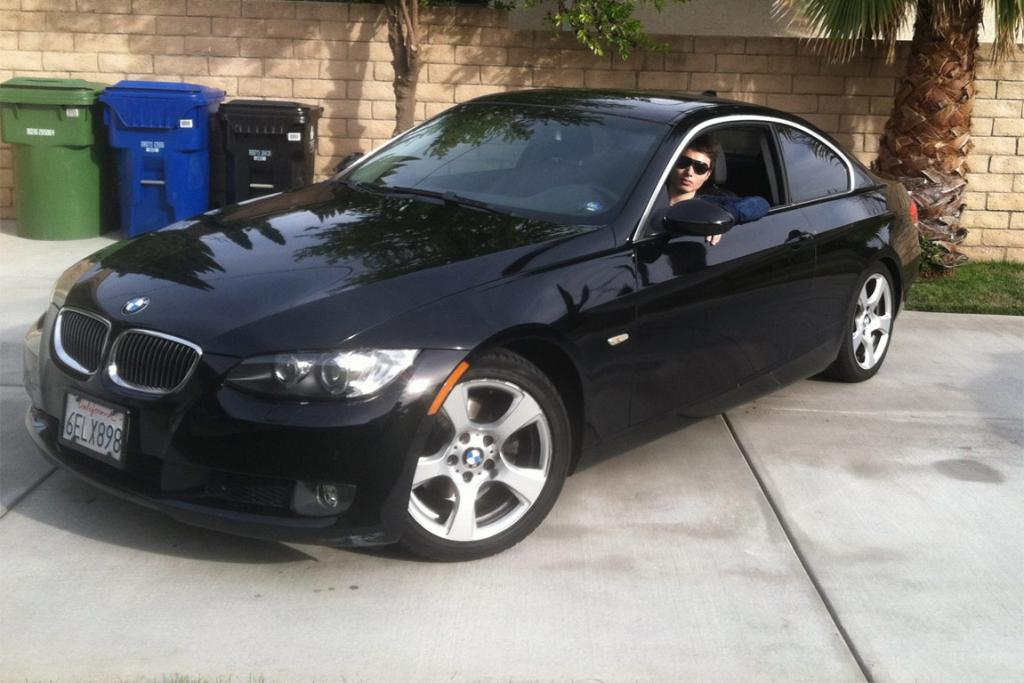 Elliot Rodger pictured in the BMW that he killed six people from.