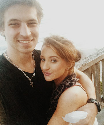 CAUGHT IN THE MIDDLE: Amelia Lyons, from Napier, and her boyfriend, were caught up in the shooting at Santa Barbara.