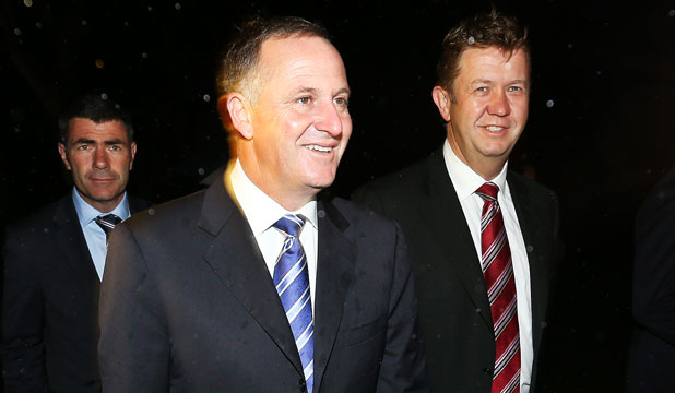 HEAT IS ON: Prime Minister John Key and Labour Leader David Cunliffe.