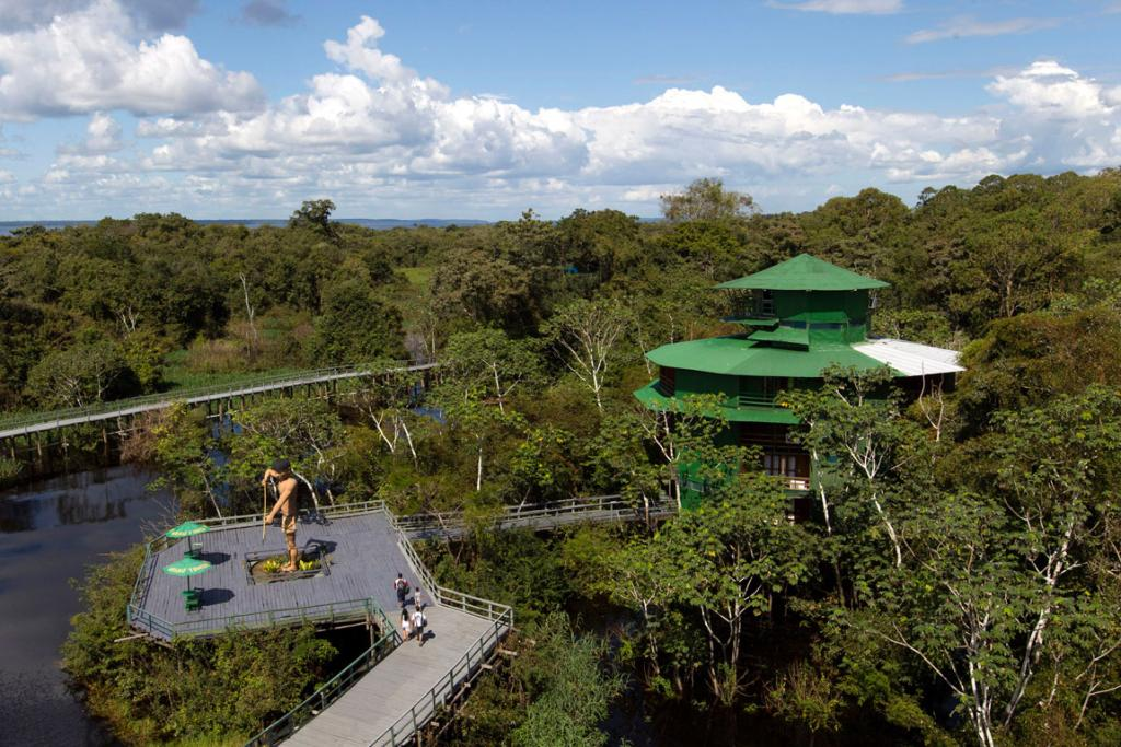 The Ariau hotel in the Amazon jungle near Manaus.