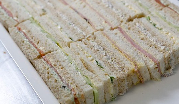 THE FINISHED PRODUCT: The Hotel Windsor's chicken, apple and mayonnaise ribbon sandwiches. Find the recipe below.
