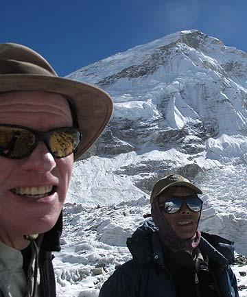 Peter Hillary with Tenzing Sherpa