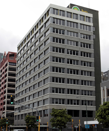 DEMO JOB: The quake-damaged vacant BP House on Customhouse Quay had a 2012 rating value of $21.5 million.