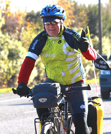 FOLLOWING DREAMS: Graham Frith prepares to cycle the world to raise funds for the Prostate Cancer Foundation.