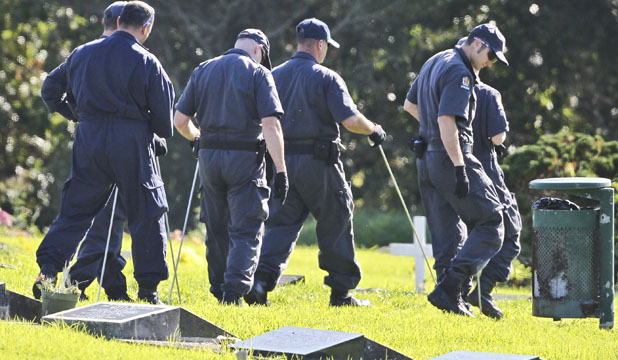 Police search in cemetery afte body discovered in Blessie Gotingco investigation