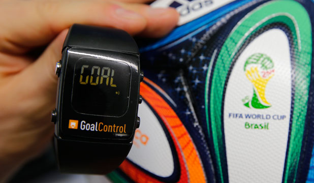 REF'S POINT OF VIEW: Referees will receive notifications on a watch like this if a goal has been scored at the World Cup.