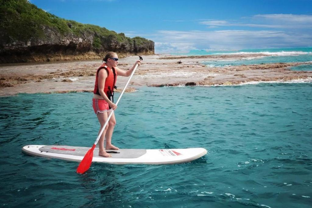 Paddleboarding is just one of the activities available.