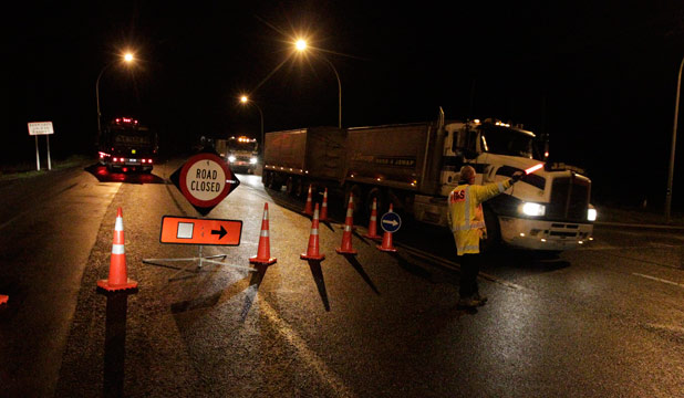ROAD BLOCK: Traffic on SH29 over the Kaimai Range was diverted south through Rotorua.