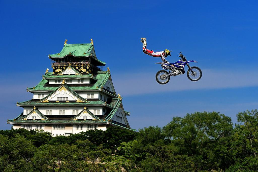 Ribor Podmol competes during qualifying for the Red Bull X-Fighters World Tour in Osaka, Japan.
