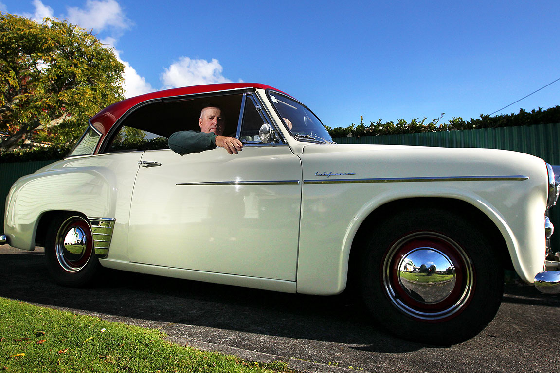Joe Fraser and his 1955 Hillman Californian