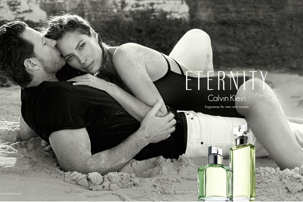 REAL LIFE LOVE: Christy Turlington has returned for a new round of Eternity ads, but this time with her real-life husband of 11 years, Ed Burns.