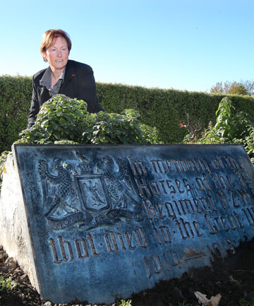 UNSPOKEN FOR: A plaque dedicated to the 8th Mounted Rifles Regiment rests at the local RSA where general manager Michelle Brown is trying to find the donors.