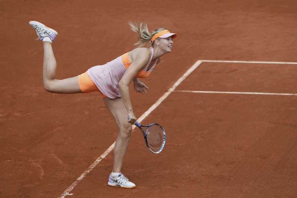 Maria Sharapova served up a 'double-bagel' to unseeded Argentine Paula Ormaechea.
