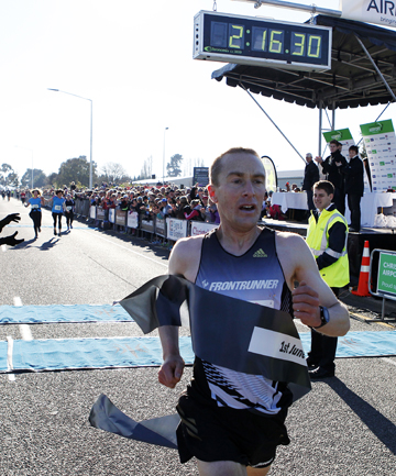 MISSION AHEAD: Timaru's Sam Wreford wants to venture overseas after cracking his personal best in winning the Christchurch marathon yesterday.