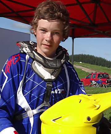 MOTOCROSS DEATH: Trent Haywood, 14, died after crashing in a motocross race in Waipara, North Canterbury.