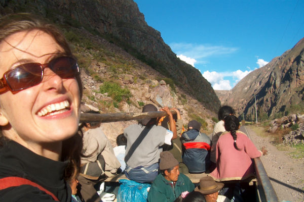 Tourism for good:  Eliza Raymond in Peru's Sacred Valley in the Andes, a place of ''snow-capped mountains and Incan ruins'' – one of the stops on her first Good Travel tour.