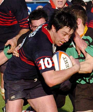 OLD STAG: Richard Apanui playing for Woodlands in the 2004 Galbraith Shield final against Marist at Rugby Park in Invercargill.