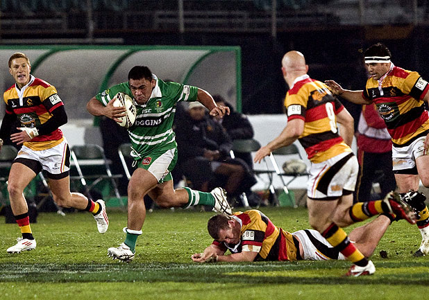 LINE BREAKER: Ma'afu Fia makes a big bust during the Turbos' win over Waikato in 2011.