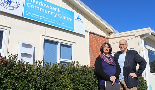 STILL WAITING: Meadowbank Community Centre general manager Lynn Mosley and Orakei Local Board member Troy Churton say the public facility is too small and needs to be rebuilt.