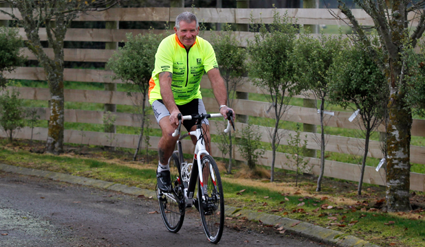 BACK ON: Phill Clapham is setting off on a bike journey across the United States next week which will take him 50 days.