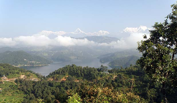 MILLION-DOLLAR VIEWS: The Chitwan district build site has views to Mount Everest.