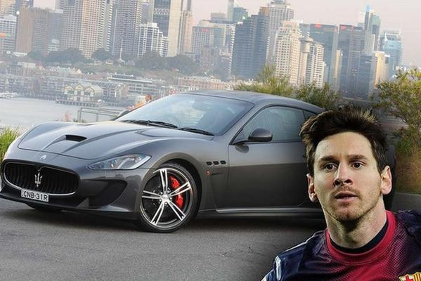 Argentinian great, Lionel Messi, is all class in his Maserati Gran Turismo MC Stradale.