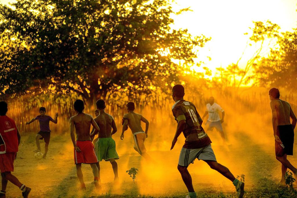 The real soccer of Brazil is played at Bom Jesus da Lapa, a town in the interior of Bahia state.