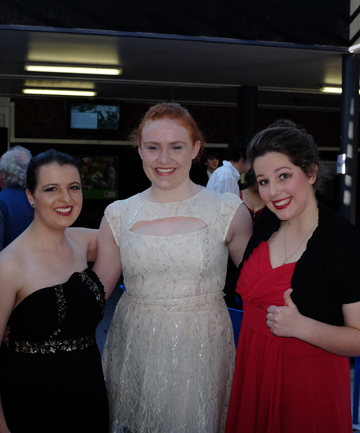 FESTIVAL FUN: Craighead students Kerri Wheeler, Anna Tarver and Emma Lindblom all in costume as Lady Macbeth for the Sheilah Winn Shakespearean festival finals held in Wellington last weekend.