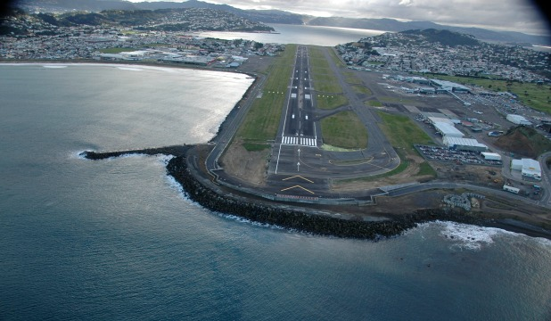 RECLAMATION:  Material dredged from Wellington Harbour  could be used to reclaim land  for a southern extension of Wellington Airport.
