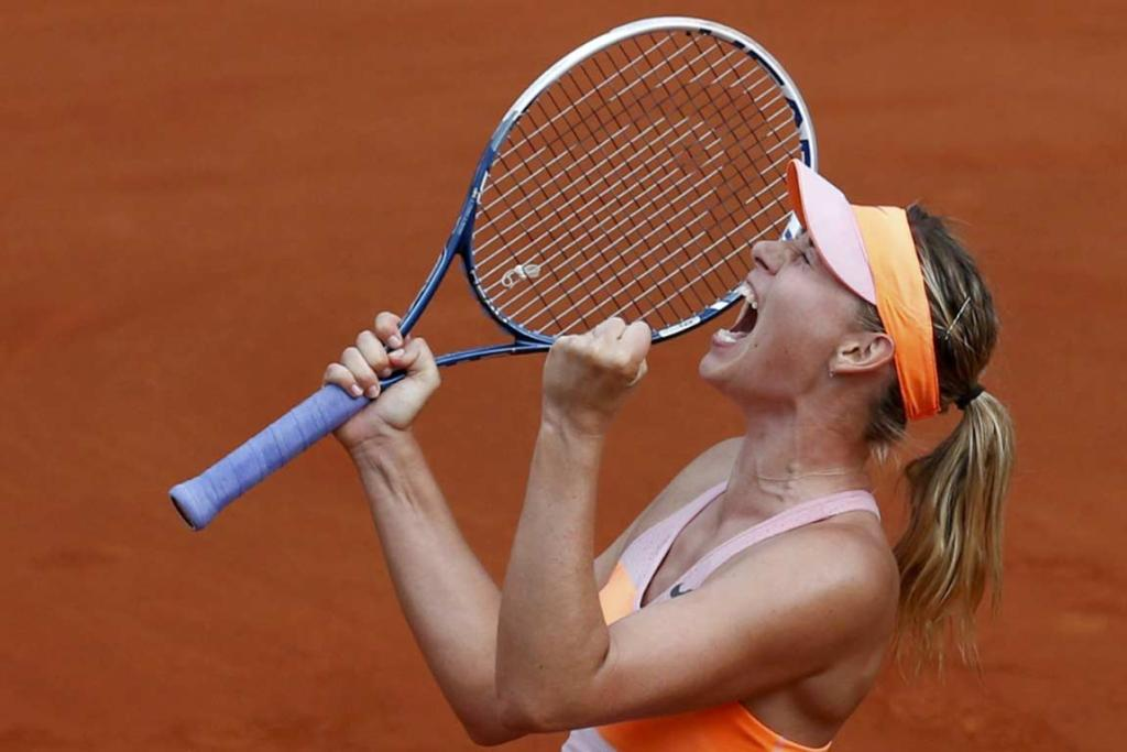 Maria Sharapova had to battle over three hours to overcome Simona Halep in the French Open final.