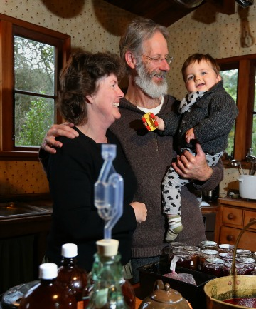 Robyn and Robert Guyton, with their grandson Leo