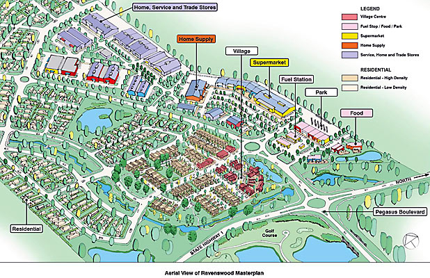 PLANS: Ravenswood Village.